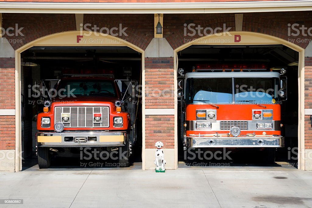 Fire trucks stock photo