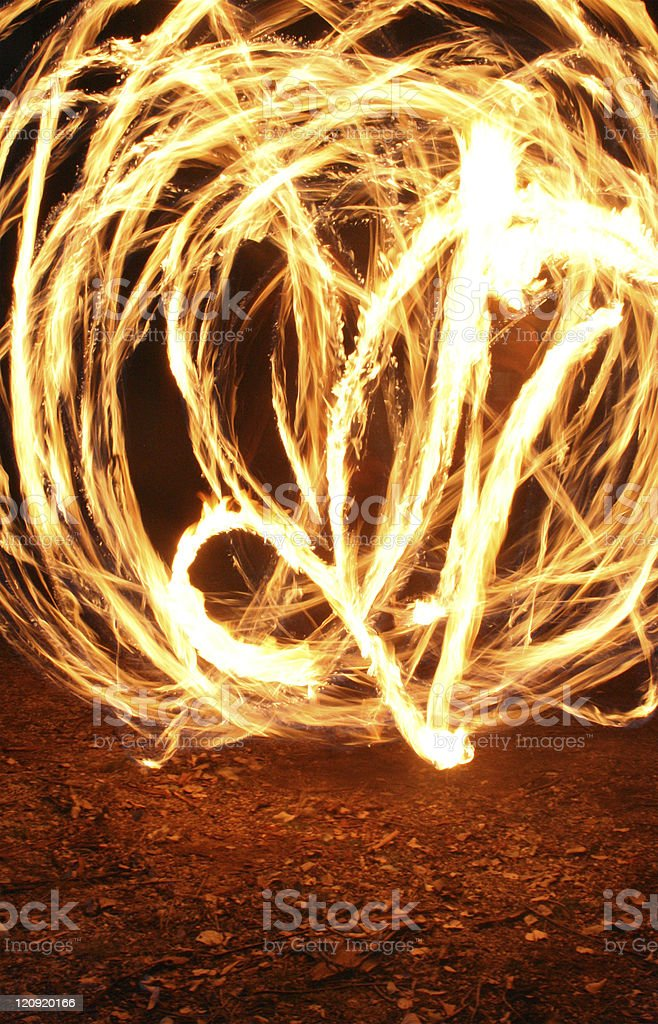Fire Twirling royalty-free stock photo