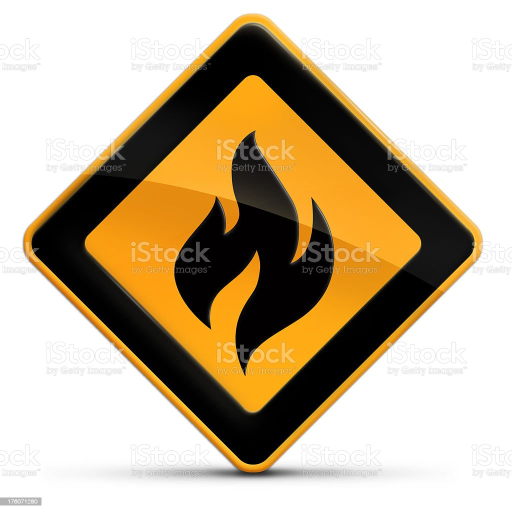 fire warning alert sign royalty-free stock photo