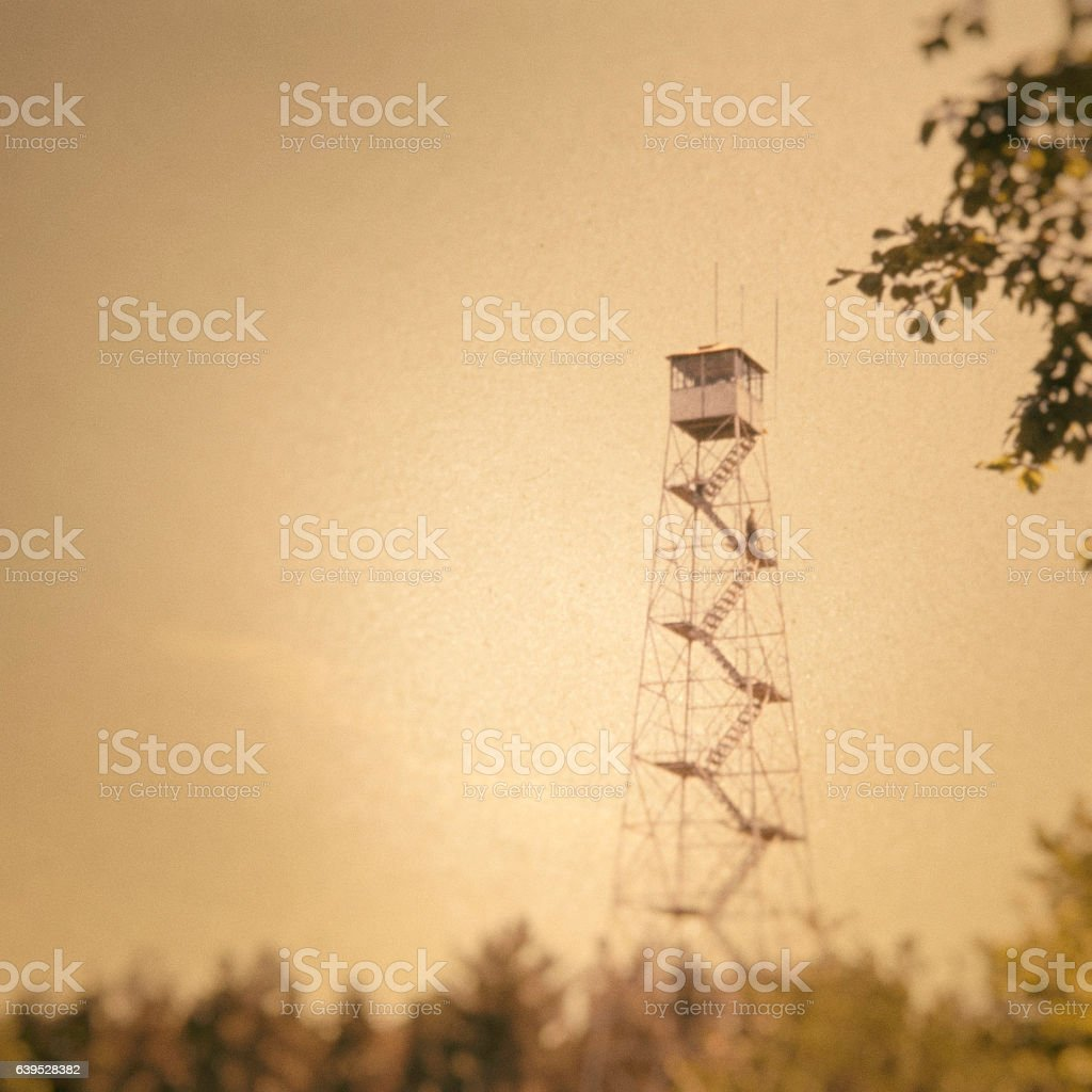 Fire Watch Tower stock photo
