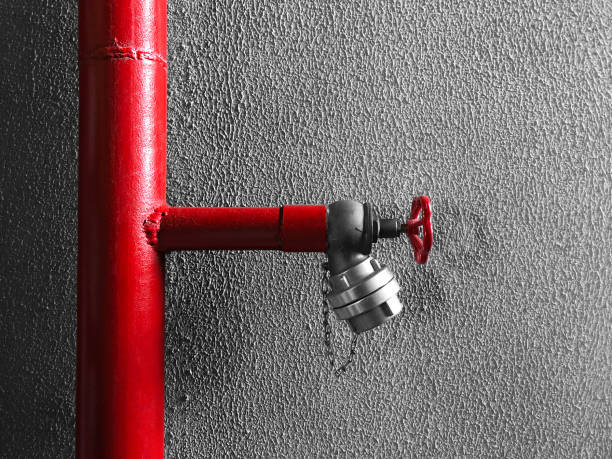 Sistema de agua contra incendios - foto de stock