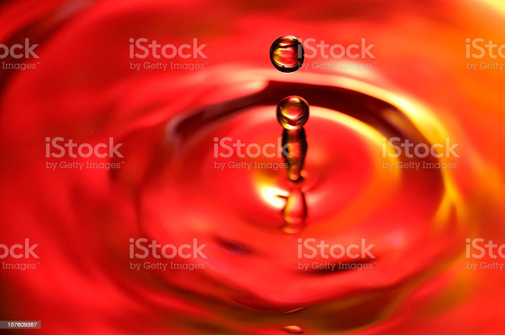 Fire Waterdrops falling royalty-free stock photo