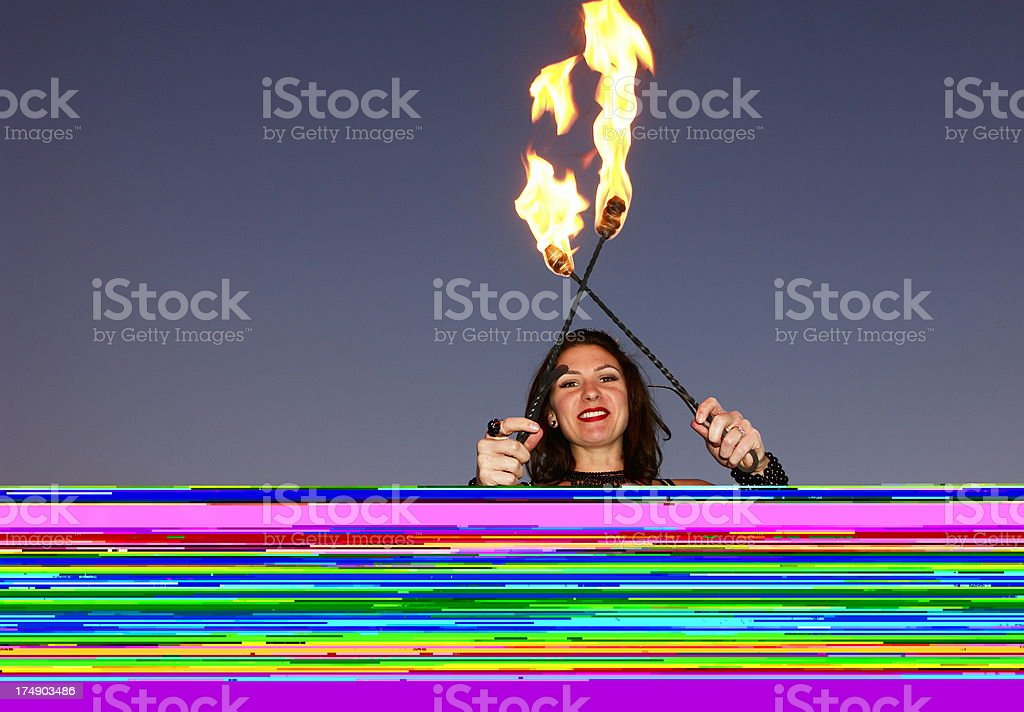 Fire Woman royalty-free stock photo