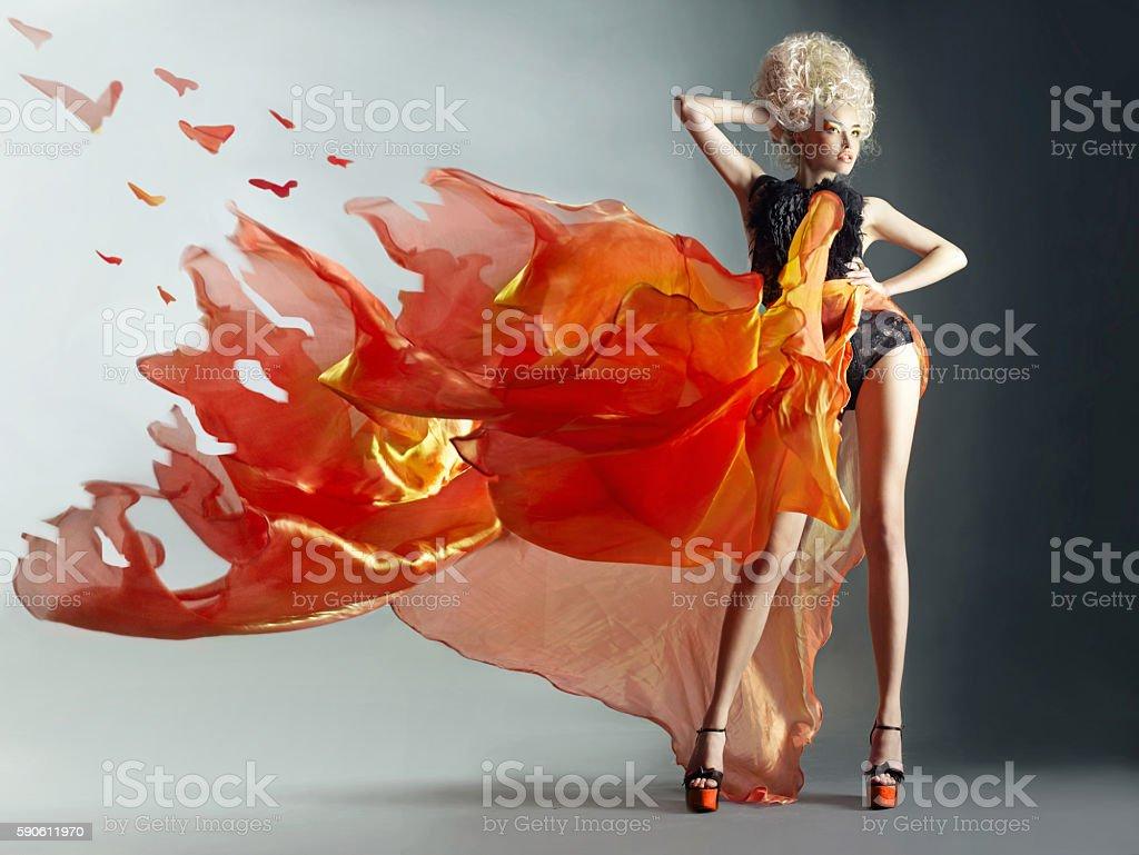 Mujer de incendios - foto de stock