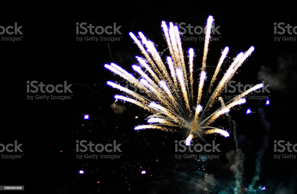 Fire Work Display - Holiday Celebration royalty-free stock photo