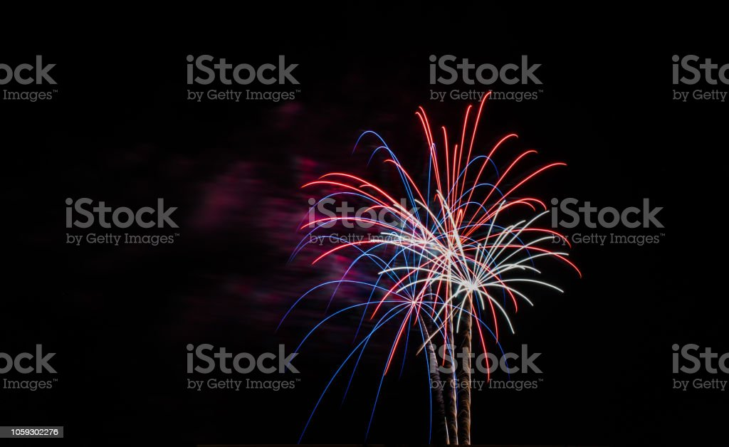 fire works 2 stock photo