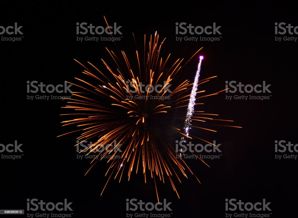 Fire Works Display - Holiday Celebrations royalty-free stock photo