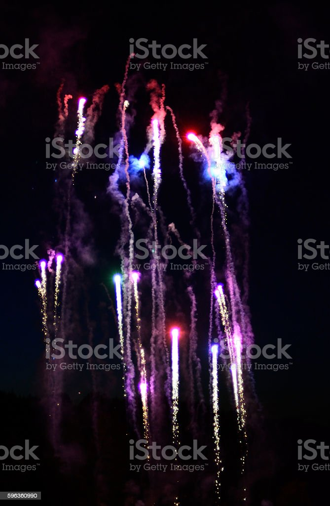 Fire Works Display - Holidays royalty-free stock photo