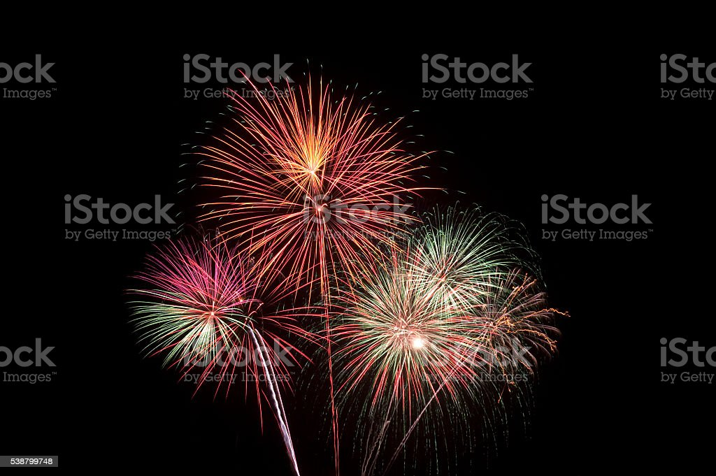Fire Works stock photo