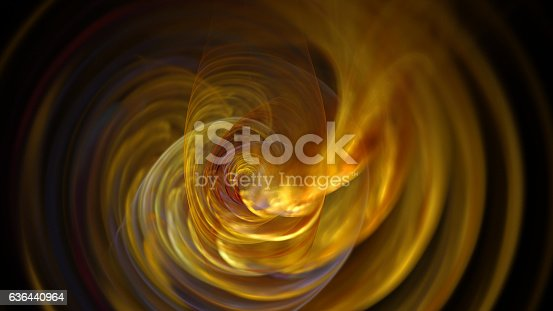 istock Fire yellow curves and circles abstract background 636440964