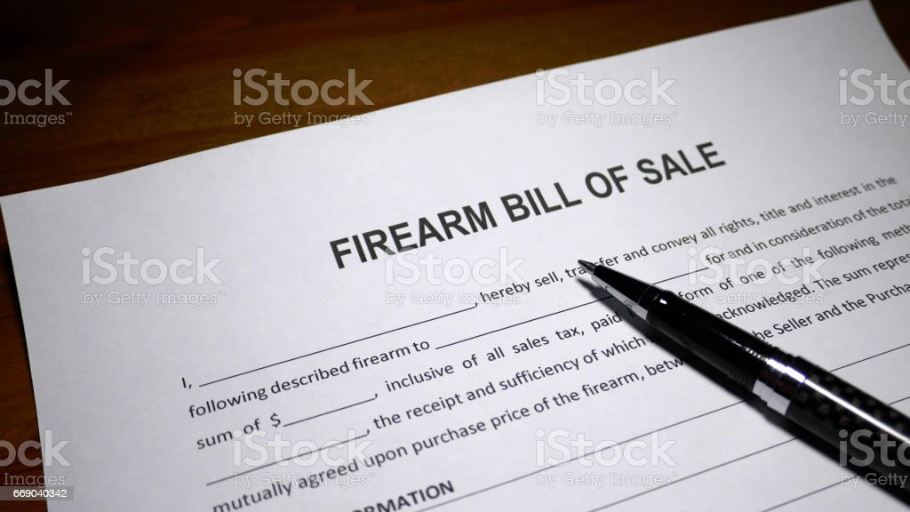 bill of sell for a gun