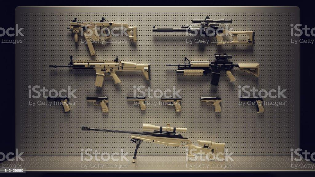 Firearms Display royalty-free stock photo