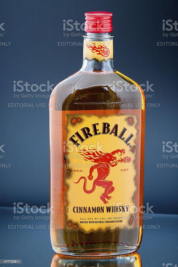 Fireball Cinnamon Whisky stock photo