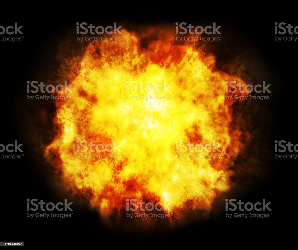 Fireball or Explosion royalty-free stock photo