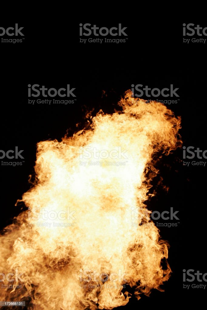 Fireball! vertical shot royalty-free stock photo