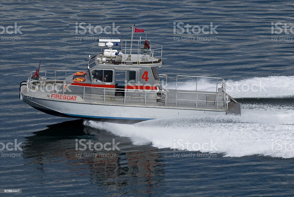 Fireboat 4 stock photo