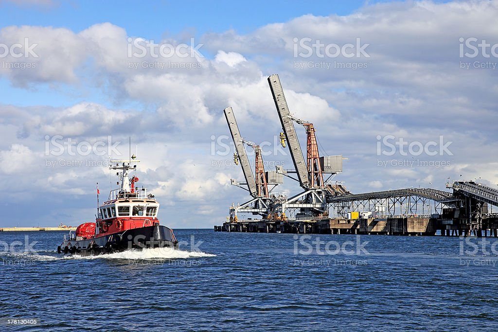 Fireboat stock photo