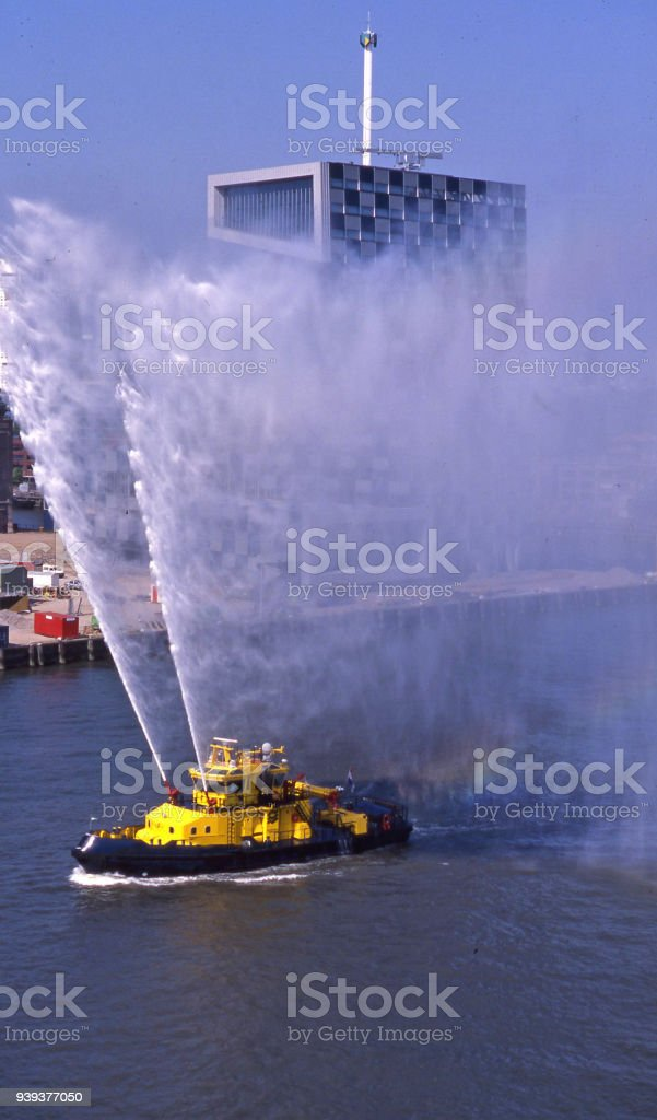 (revised) fireboat stock photo