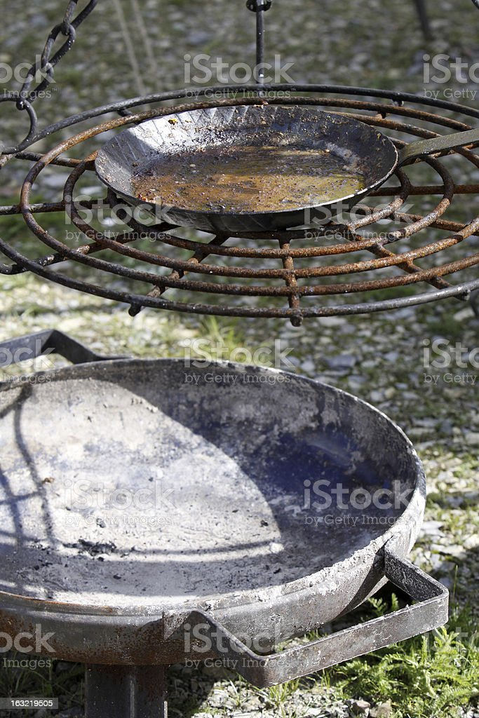 Firebowl stock photo