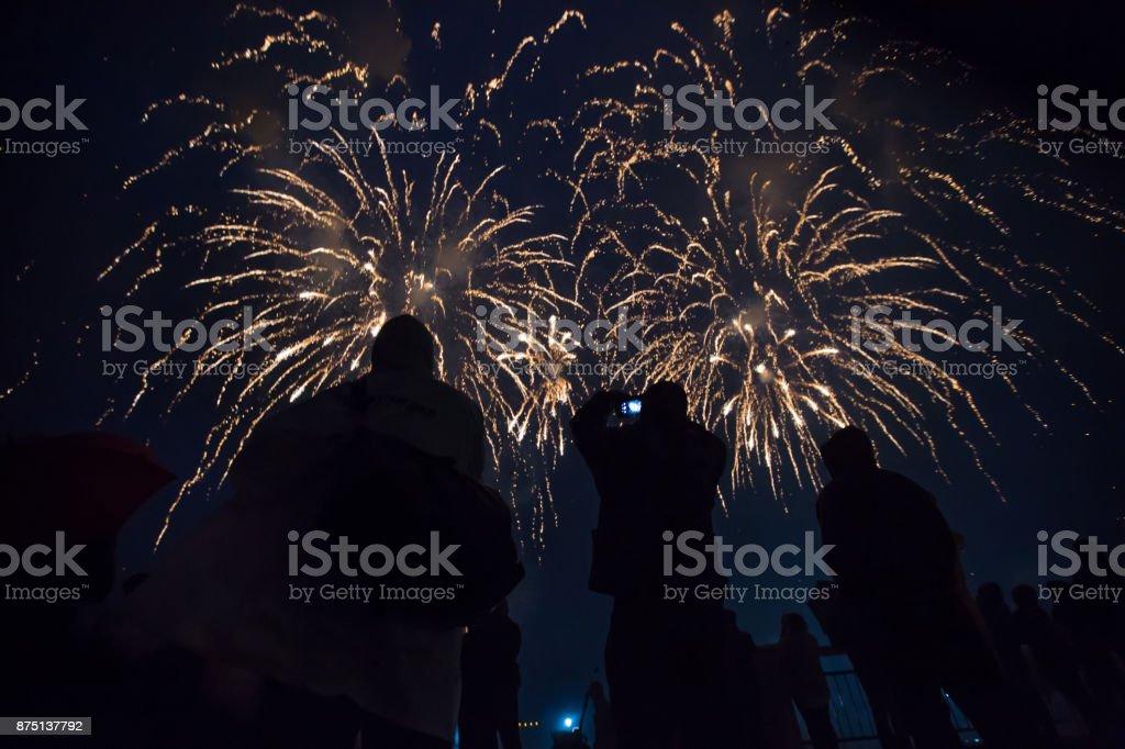 Firecracker. Fireworks stock photo