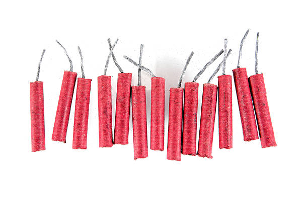 Firecrackers isolated on white background.Firecrackers stock photo
