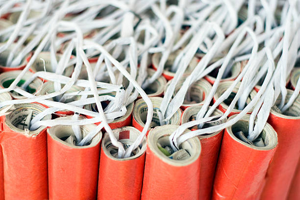 firecrackers - petard stock photos and pictures