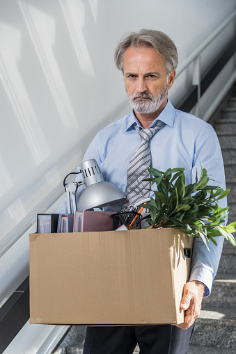 1048789678 istock photo Fired businessman 1125637882