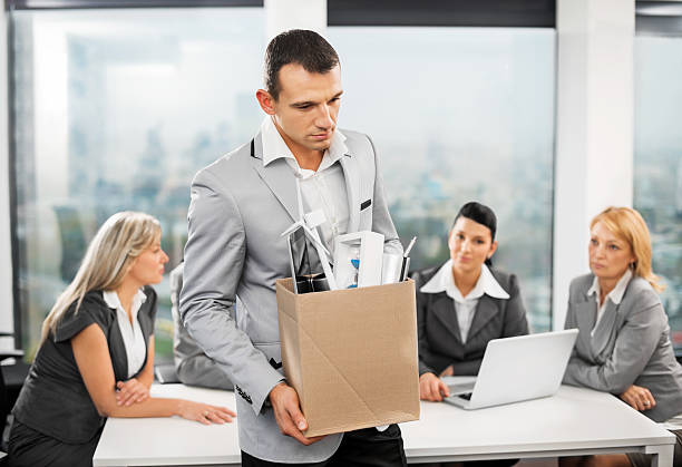 fired businessman - leaving partnership corporate business sitting stock photos and pictures