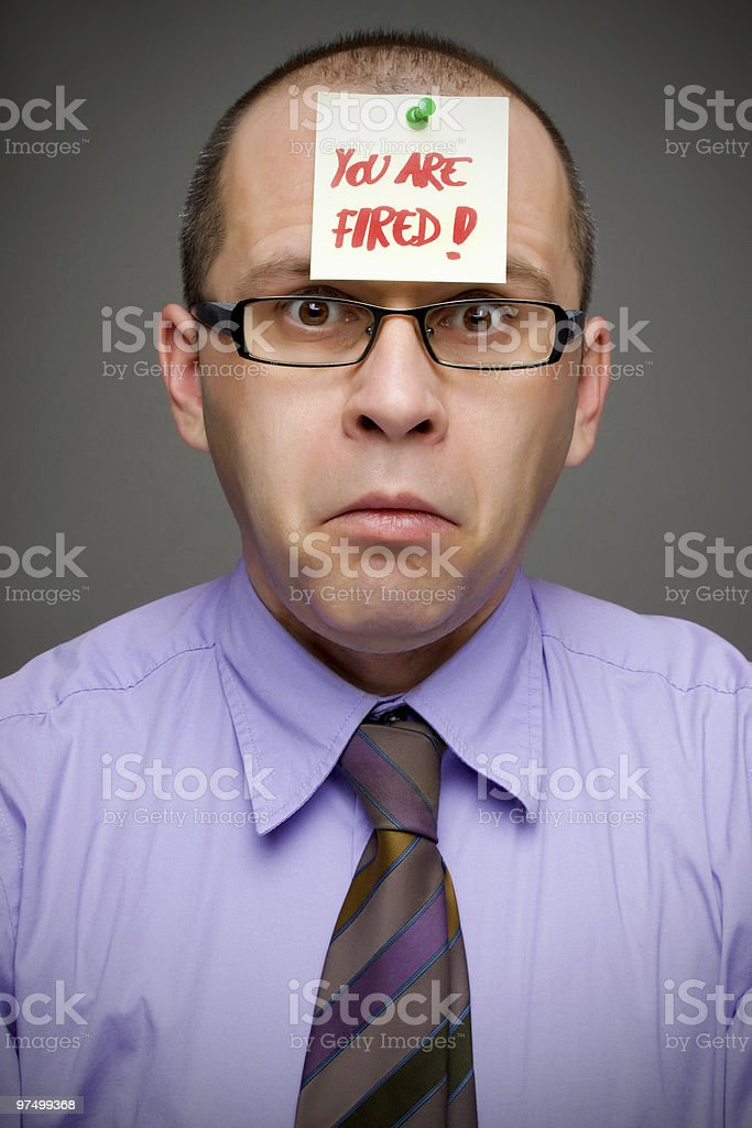 Fired from job royalty-free stock photo