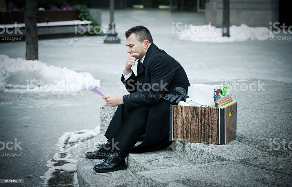 Fired from work royalty-free stock photo
