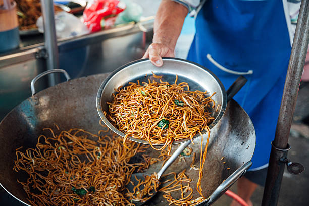 Fired noodles stock photo