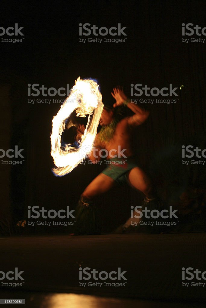 Firedancer stock photo