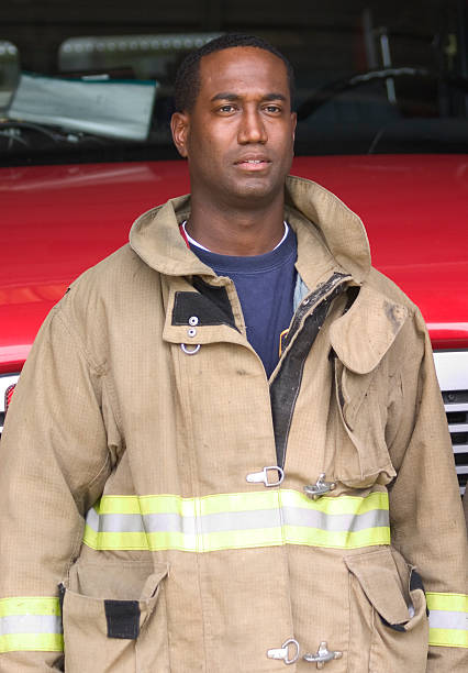 Firefighter 3 stock photo