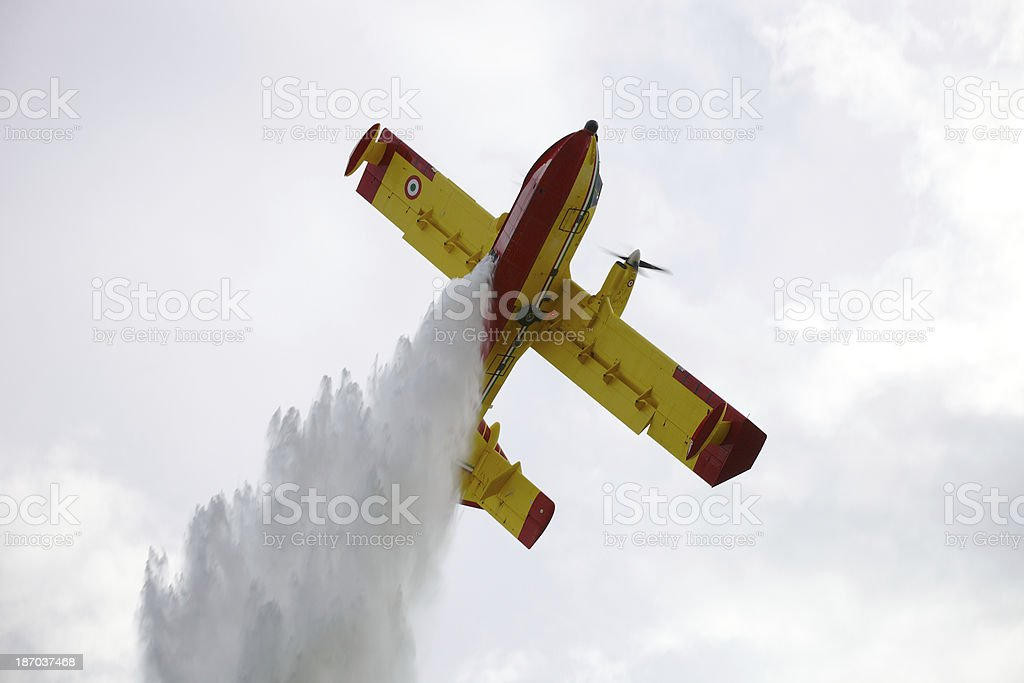 Firefighter Airplane royalty-free stock photo