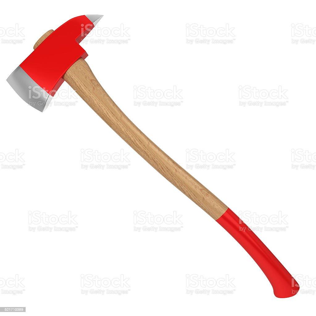 Firefighter axe stock photo