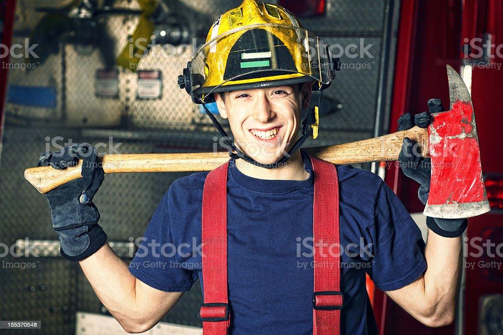 Pompiere Cadetto - Foto di Stock  c62d2f0128ad