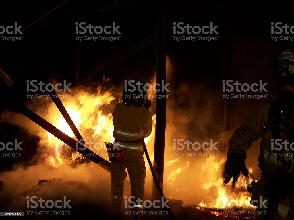 Firefighter Heat stock photo