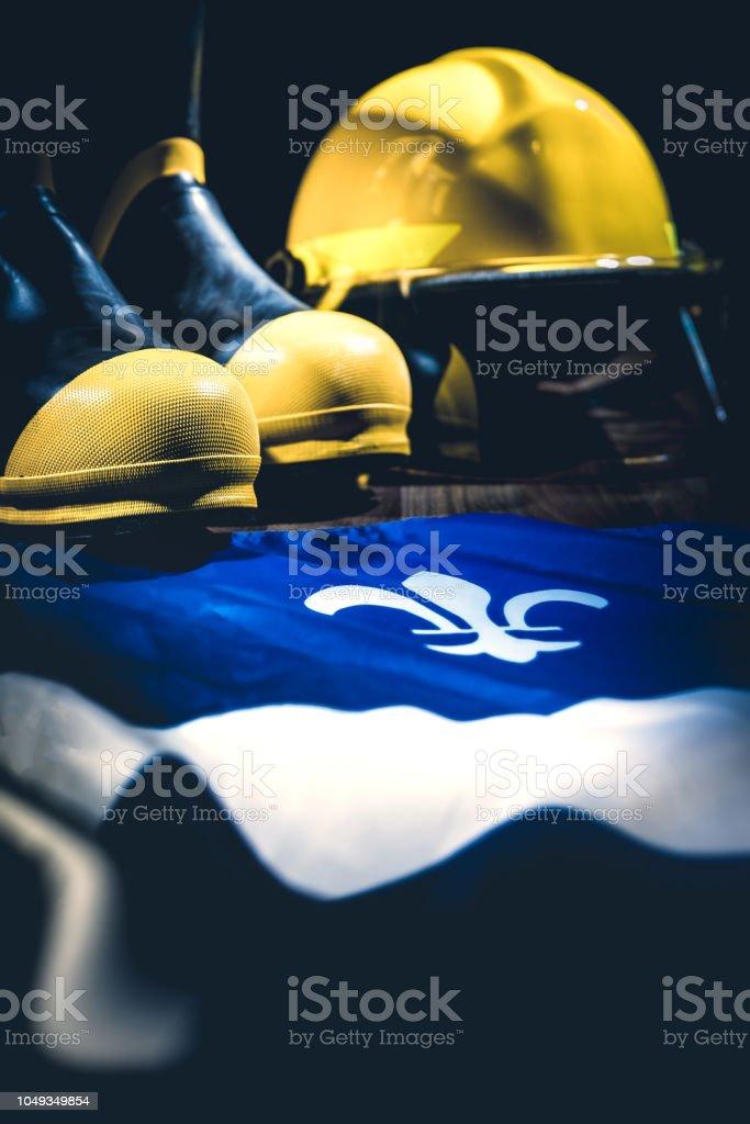 Casque et bottes de pompier - Photo
