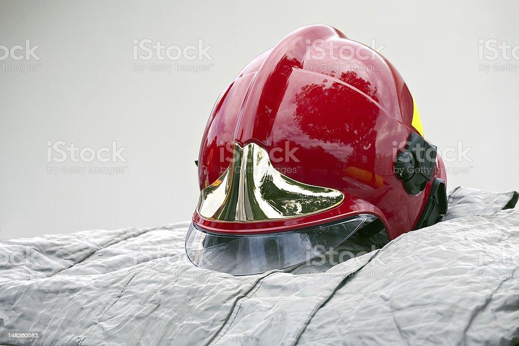 Firefighter helmet stock photo