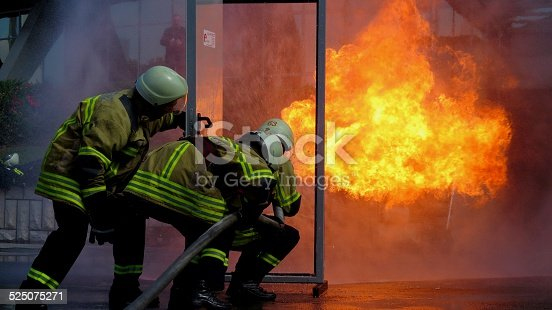 istock Firefighter in action 525075271