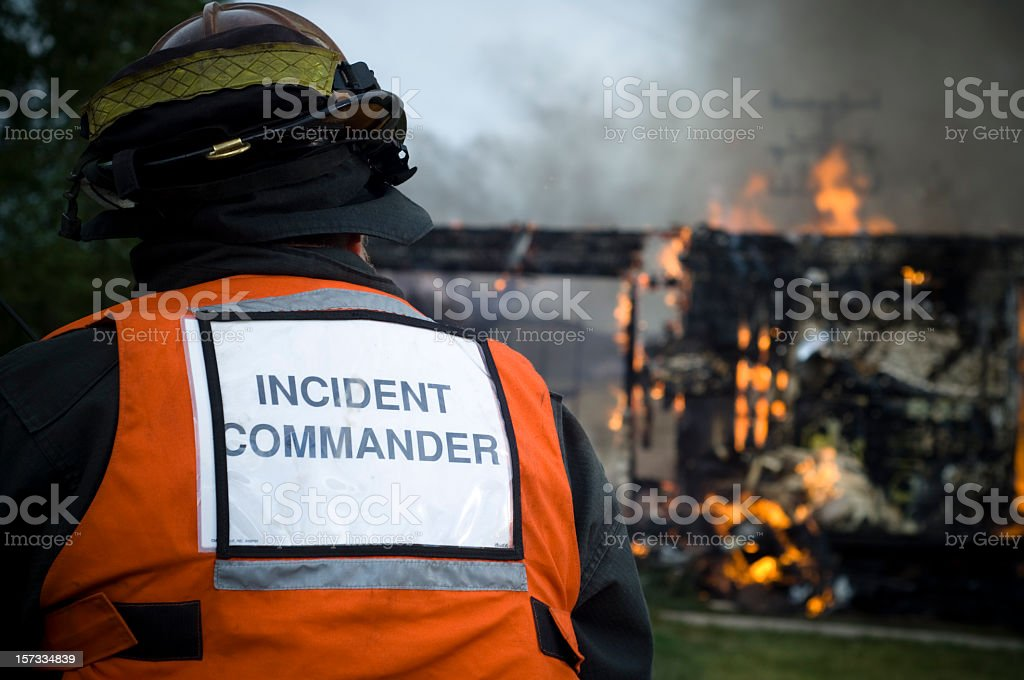 Firefighter Incident Command royalty-free stock photo