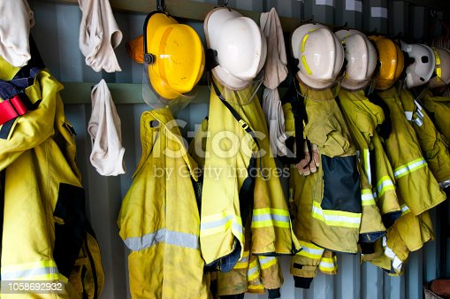 Firefighter Jackets and Helmets
