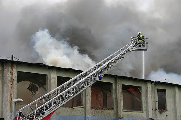firefighter on duty #2 - disconcert stock pictures, royalty-free photos & images