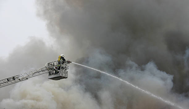 firefighter on duty - disconcert stock pictures, royalty-free photos & images