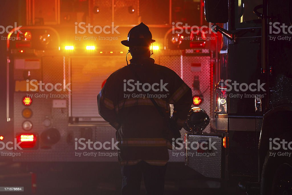 Firefighter bildbanksfoto