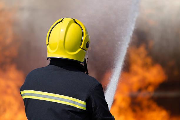 Firefighter. stock photo