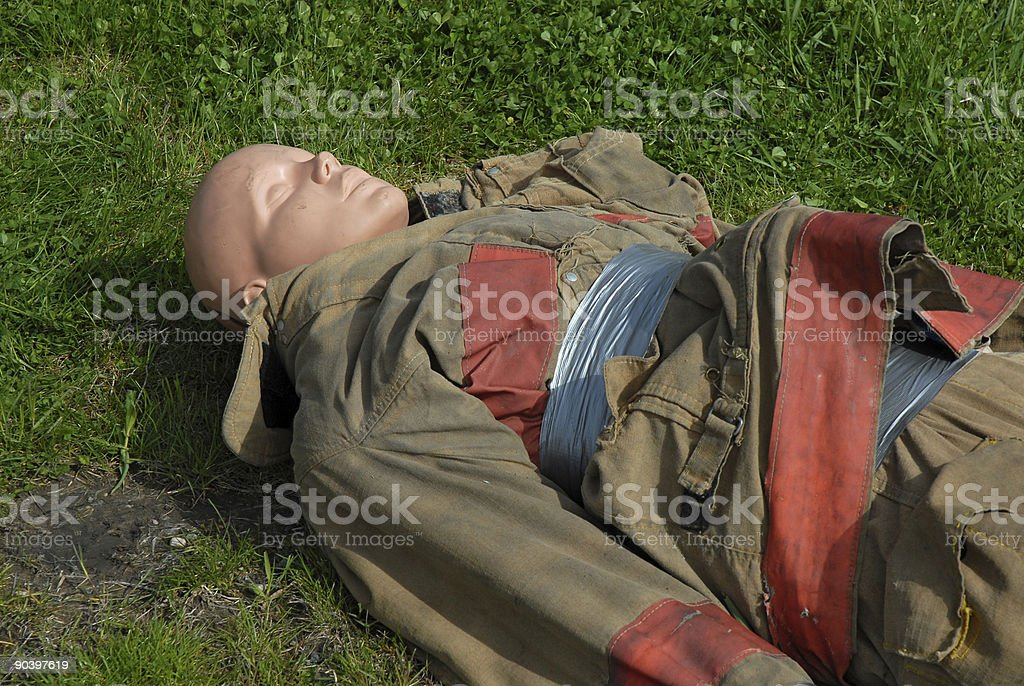 Firefighter Practice Dummy royalty-free stock photo