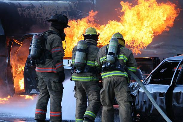 Firefighter Team stock photo