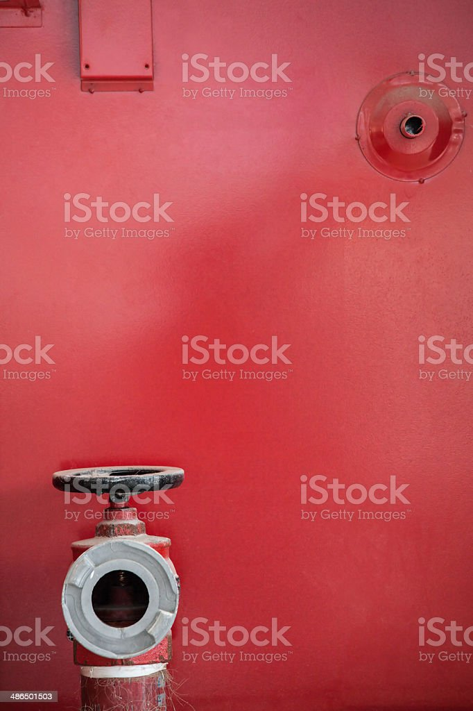 Fire-fighter Water Pump stock photo