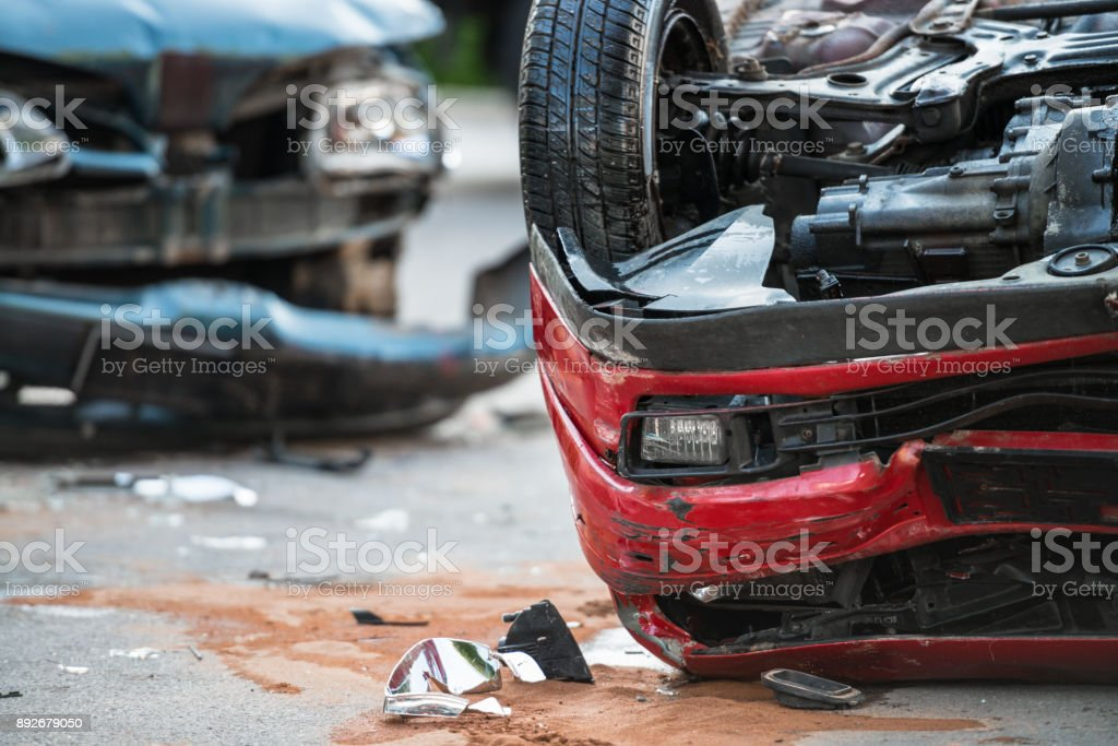 Firefighters At A Car Accident Scene Stock Photo & More Pictures of ...